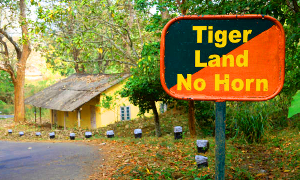 Kurangani,Theni.Keeping people and tigers safe ,So travelling passenger dont distrub for animals And safe drive in kurangani outer area-Rengha Holidays